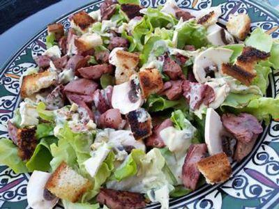 Salade de gésiers au vinaigre balsamique