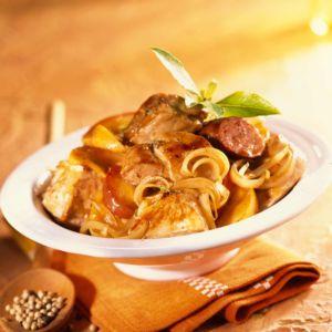 Mijoté de porc piquant aux olives et son riz Pervenche du Laos